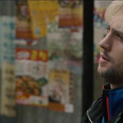 Pietro tomándose un descanso.