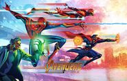 Fandago Avengers Infinity War mini poster team 1