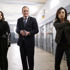 Johnson, Coulson y May en la Penitenciaría de South Ridge.