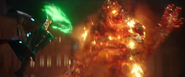 Mysterio fights Molten Man