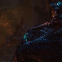 Obsidian ve a Thanos amenazar a Loki.