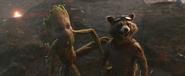 Rocket and Groot reunite