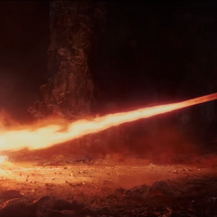 Thor se defiende de la Espada Crepuscular de Surtur.