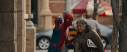 Spider-Man helps Old Lady (Homecoming)