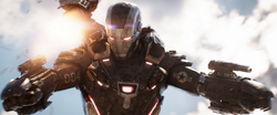 War Machine in battle at Wakanda