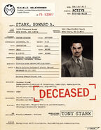 Howard Stark SHIELD File