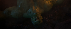 Hulk beaten defeated by Thanos