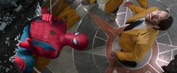 Spider-Man saves Harrington, Liz & Ned