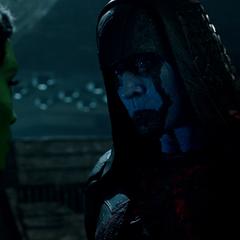 Gamora convence a Ronan de permitirle ir por el Orbe.