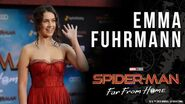 Emma Fuhrmann (Cassie Lang) on shipping Peter MJ LIVE at the Spider-Man Far From Home red carpet