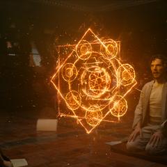 Ancestral enseña a Strange sus poderes.