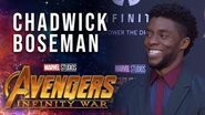 Chadwick Boseman Live at the Avengers Infinity War Premiere