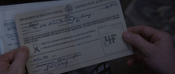 Steve Rogers - Denied Enlistment Form