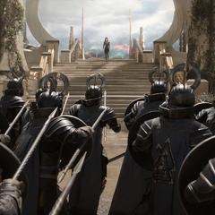 Hela es acechada por los Einherjar.