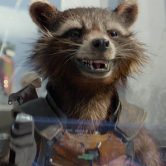 Rocket localiza a Peter Quill.