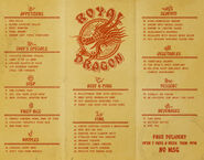 NYB Royal Dragon Menu