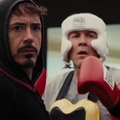 Hogan boxea con Stark.