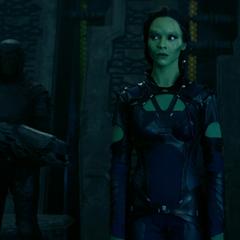 Gamora aprende sobre el estado actual del Orbe.