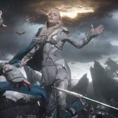 Brunnhilde es salvada por otra Valquiria.