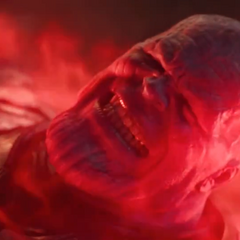 Thanos ordena un ataque aéreo del Santuario II.