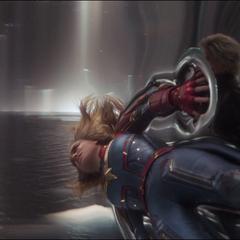 La Inteligencia Suprema se burla de Danvers.