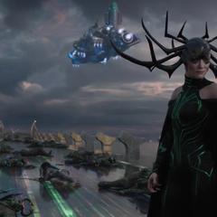 Hela escucha la propuesta de Thor.