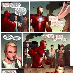 Stark habla frente a los medios tras detener un asalto.