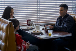 The Punisher Frank, Beth and Rex Breakfast