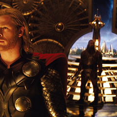 Thor convence a Heimdall de transportarlos a Jotunheim.
