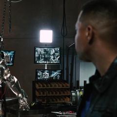 Rhodes considera utilizar una armadura en otra ocasión.