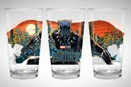 Black Panther pint glasses