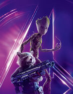 Groot & Rocket AIW Textless Poster