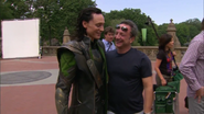 Loki on set The Avengers