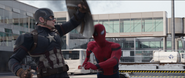 Cap hits Spider-Man