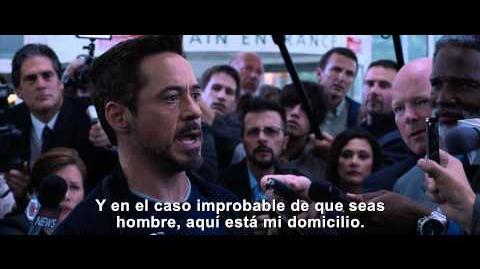 Iron Man 3 Clip oficial subtitulado -- Latinoamérica -- Tony desafía al Mandarin