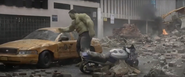 Hulk Lightly Smashes (Taxi Cab)
