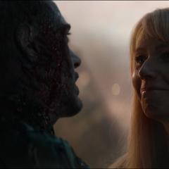 Potts le promete a Stark que ella y Morgan estarán bien.