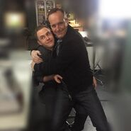 Coulson and Fitz BTS