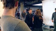 Jeremny Renner on set Civil War pic 03