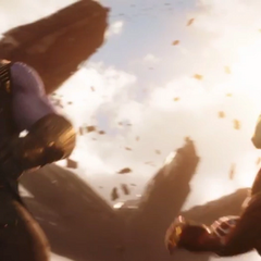 Stark es confrontado por Thanos.