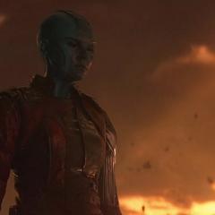 Nebula lamenta la pérdida de sus amigos.