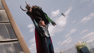 Thor lifts Loki