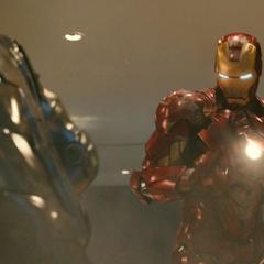 Stark luchando contra Rhodes.