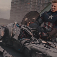 Rogers destruye un Centinela de Ultrón.