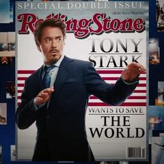 Revista explicando las intenciones de Stark para salvar el mundo.
