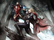 TA Concept Art Iron Man and Thor