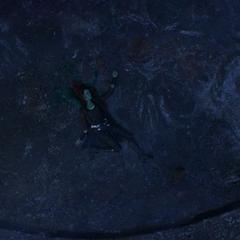 Gamora cae muerta del acantilado.