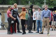 On set The Avengers 10