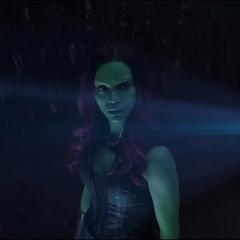 Gamora aprende sobre el destino de Thanos.