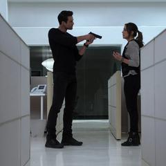 Skye se reencuentra con Ward e intenta distraerlo.